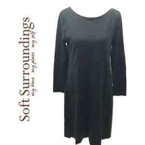 SOFT SURROUNDINGS Size M Dress Grayish Green Knit